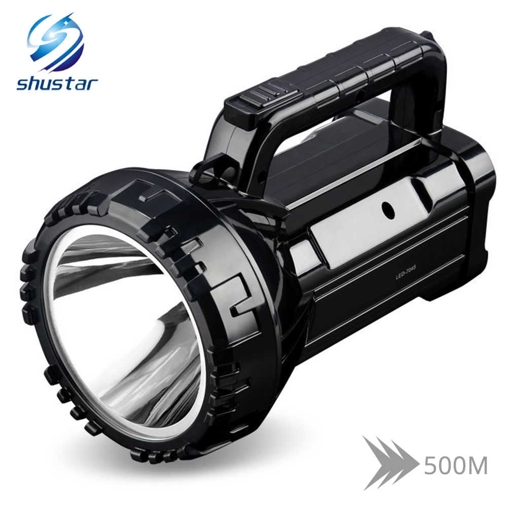 Correa y Cargador Incluido Impermeable IPX4 Linterna LED Recargable Linterna LED Alta Potencia Ciclismo 3 en 1 S/úper Brillante 9600mAh Pesca Ideal para Camping Linterna Gran Alcance de 800m