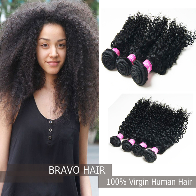 Bravo Hair 3pcs Malaysian Curly Weave 6a Unprocessed Soft