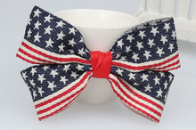 Free shipping! NEW high quality ribbon bow elastic Hair Band /USA national flag hair clip / Hair Accessories/korean style