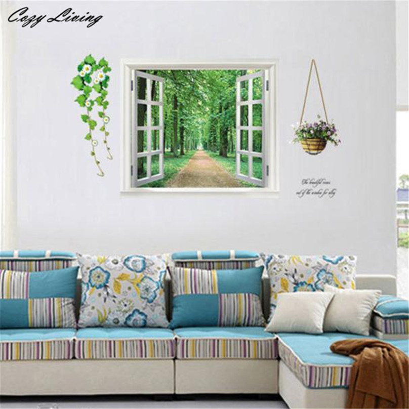 3D Wallpaper Sticker DIY Bedroom Living Room Background