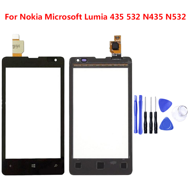 For Nokia Microsoft Lumia 435 532 N435 N532 Touch Screen Sensor LCD Display Digitizer Glass Touch Panel Replacement