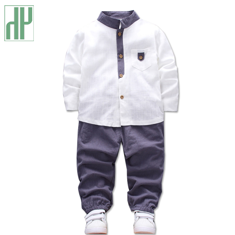 Children clothing set Long Sleeve Shirts Pants 2pcs linen baby clothes autumn winter boutique kids boys clothes toddler girl цена