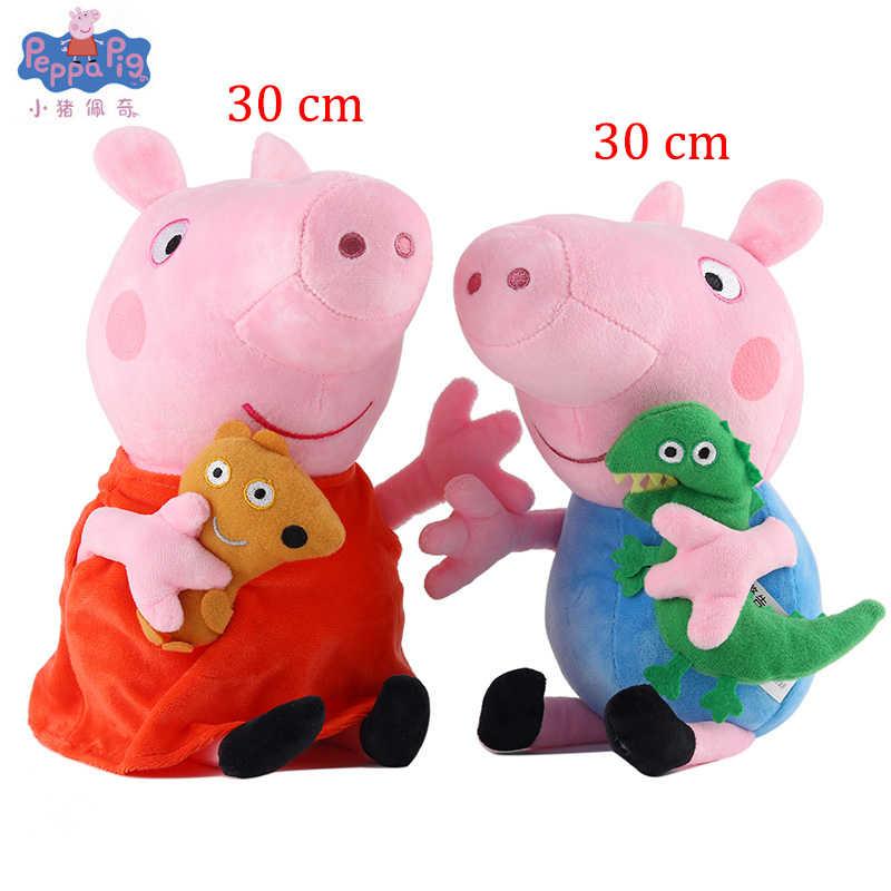 30 Cm Original Peppa Pig George Brinquedos De Pelúcia Bicho de pelúcia Rosa Família Pepa Pig Bonecas Presente de Aniversário Brinquedo Para Crianças