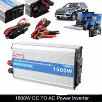 1500W DC 12V To AC 220V Power Charger Converter Car Inverters For Electronic Products