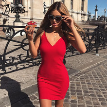 INDRESSME 2019 Nieuwe Sexy One Size Grote Stretch Spaghetti Knie Lengte Party Mode Zomer Vrouwen Dame Jurk Femme Vestidos(China)