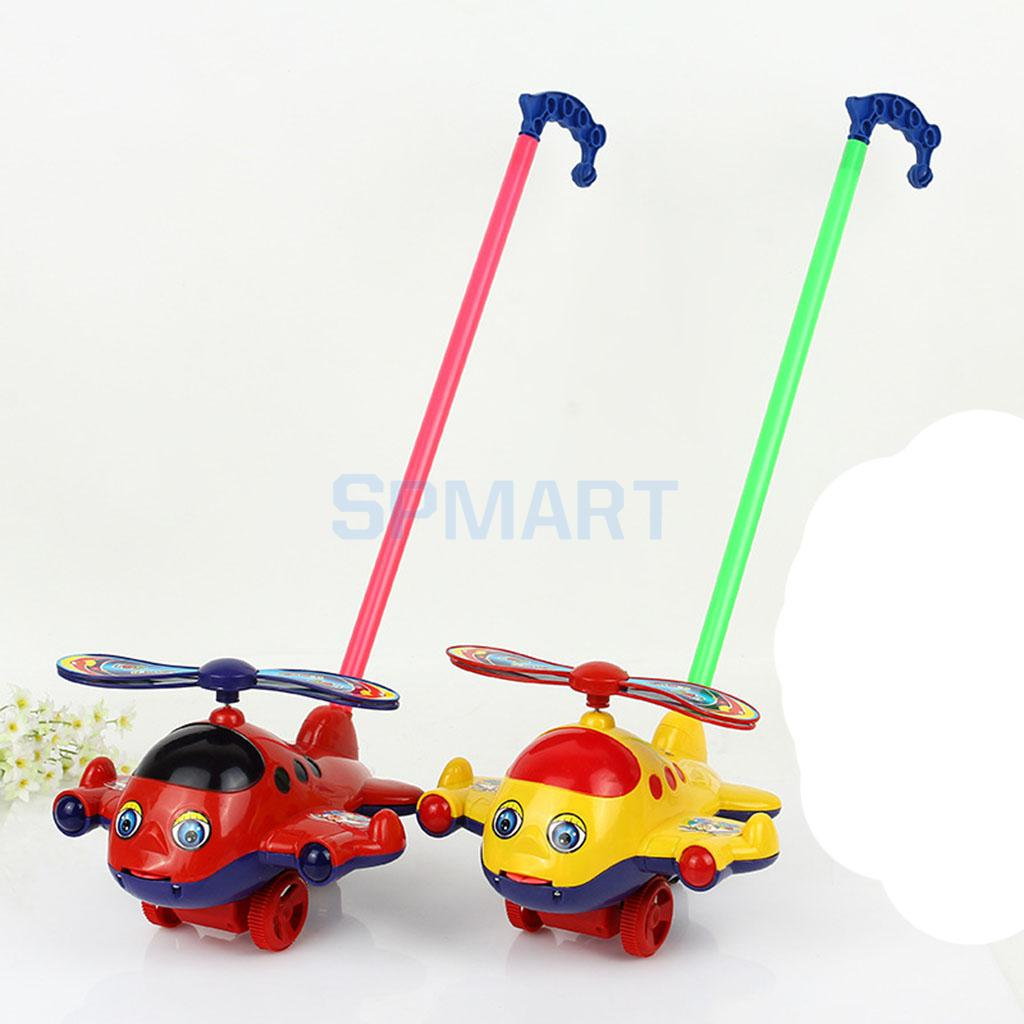 Push And Pull Toys : Children cartoon airplane push toy toddler and pull