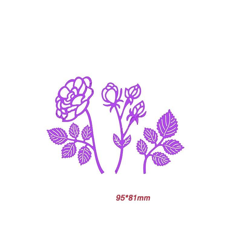 3 types Rose Flowers Cutting Dies Stencil Scrapbook Album Embossing Handcrafts