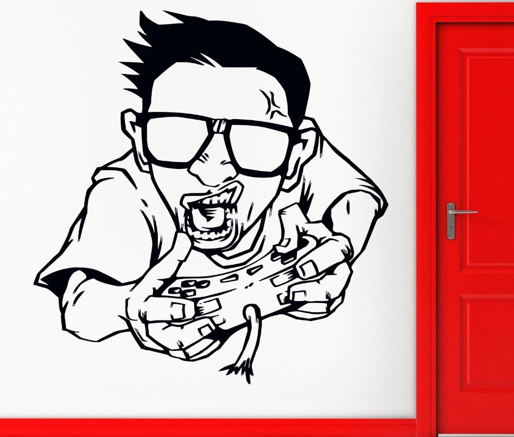gamer pared del vinilo amer video juegos xbox playstation los nios juegan mural etiqueta de la