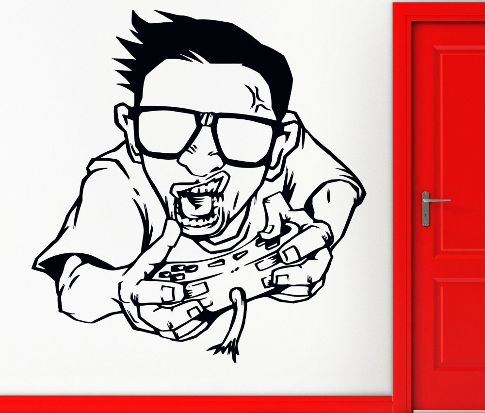 Gamer Wall Stickers né 2 Play Jeu XBOX Art Décalque Large Enfants Garçons Chambre