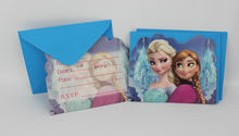 Disney Frozen Movie Elsa Anna Kid Boy Girl Baby Birthday Party Decorations Kids Supplies Favors Invitation Cards 12 people Use