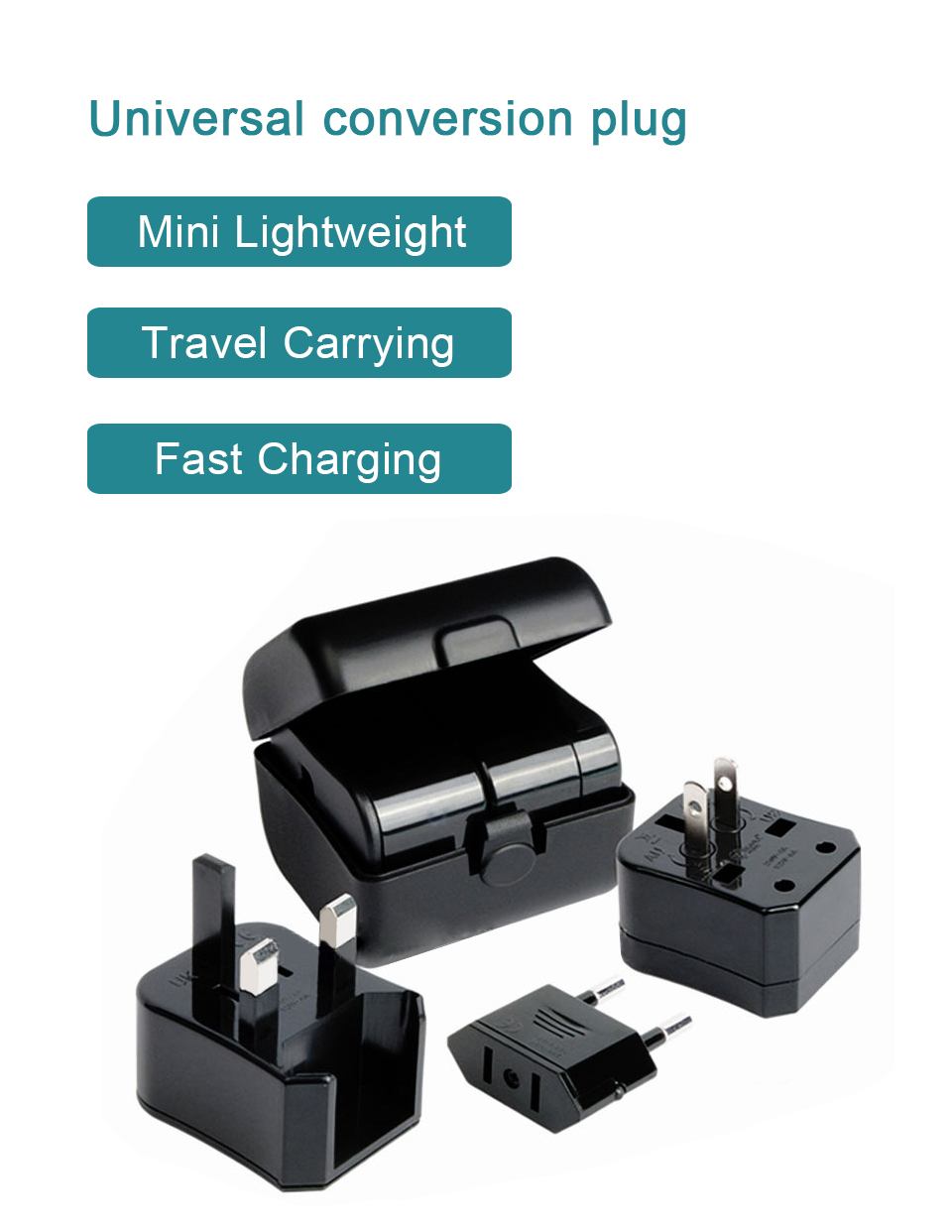 Three-in-one Global Travel Conversion 3 Sockets Plugs Universal Adapter Travel Abroad Converter Household Plugs USAUEUUK (1)