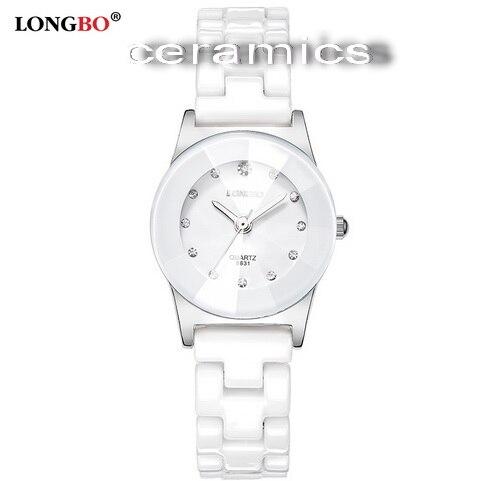 Hight Grade White Ceramic Water Resistant Business Fashion Dress Women Man Wristwatches Lady Couple Gift Rhinestone Casual Watch