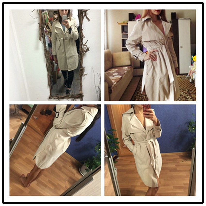 Fashion Long   Trench   Coat For Women Outerwear Loose Coat Gabardina Mujer   Trench   Autumn Spring   Trench   Coats