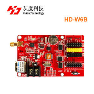 Hot Sales HD-W6B USB+WIFI Single & Dual Color P10 LED video display control card Hot sales TF-A6UW