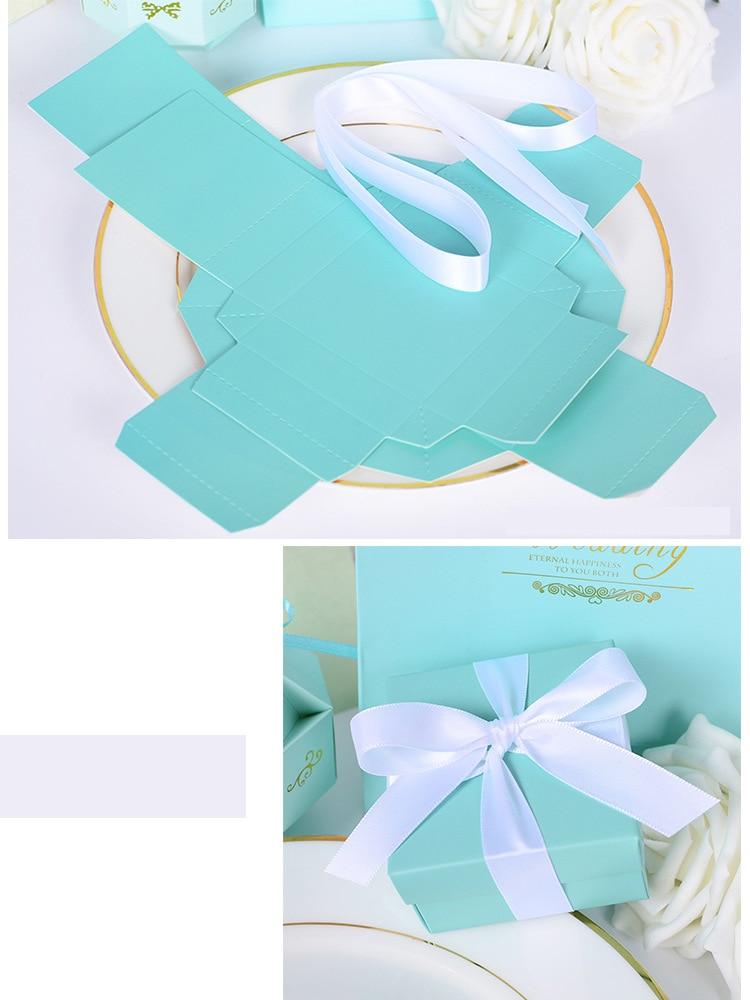20pcs Candy Box Tiffany Blue Theme Wedding Favor Boxes Christmas