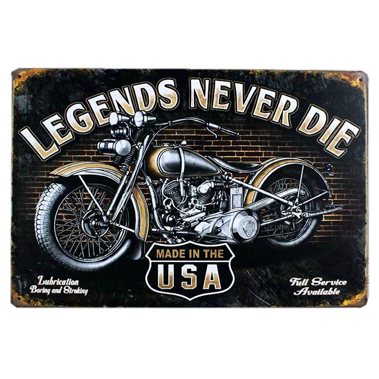 vintage metal tin signs motorcycle retro plaque poster bar pub club wall tavern garage home. Black Bedroom Furniture Sets. Home Design Ideas