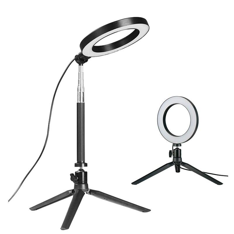 Dimmable LED Ring Light Photo Studio Video Light Annular Lamp w Tripod Selfie Stick for Makeup Live Steam Instagram Youtube кольцо для селфи selfie ring light на батарейке белое