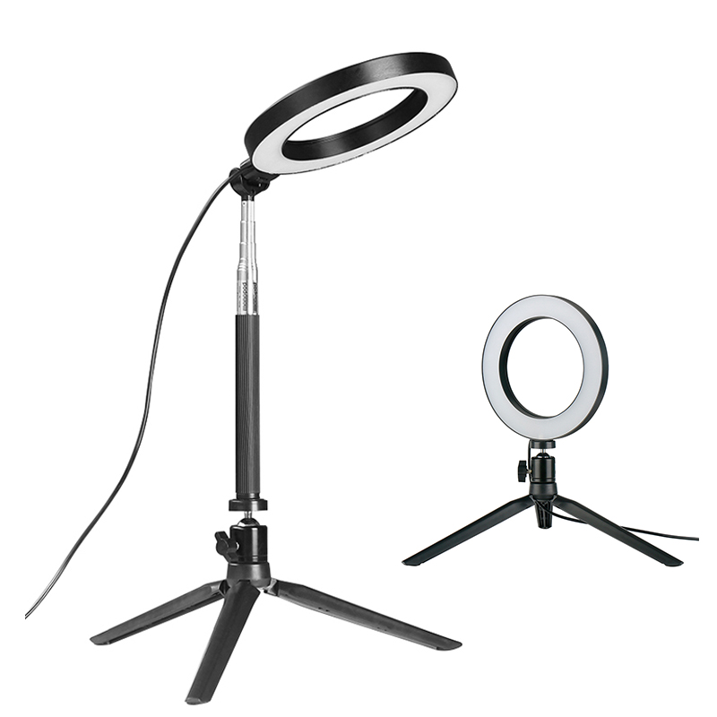 Dimmbare LED Ring Licht Foto Studio Video Licht Ringförmige Lampe w Stativ Selfie Stick für Make-Up Live Dampf Instagram Youtube