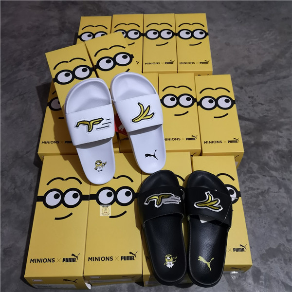 Puma shoes puma Minion Jointly Yellow Sports Slippers black and white women shoes  size 36-39 11ea5b787