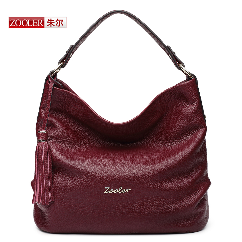 ZOOLER New arrival genuine leather handbags Woman Design Elegant Top Quality Shoulder Bags Luxury Brand Fashion  bags  #BC-8135 zooler 2017 new arrival genuine leather handbags woman design top quality crossbody bag luxury brand red ladies bags hs 3211