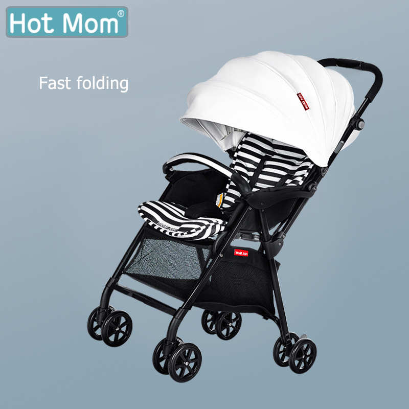 Hot mom Brand baby stroller 3.5KG ultra-light baby trolley Newbron portable  Baby carriage Can be on the plane umbrella carts baby stroller ultra light portable shock absorbers bb child summer baby hadnd car umbrella