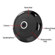 цена на Mini WIFI IP Camera HD1080P Fisheye Panoramic 360 Degree VR 64GB TF Card slot Two Way Audio Motion detection surveillance camera