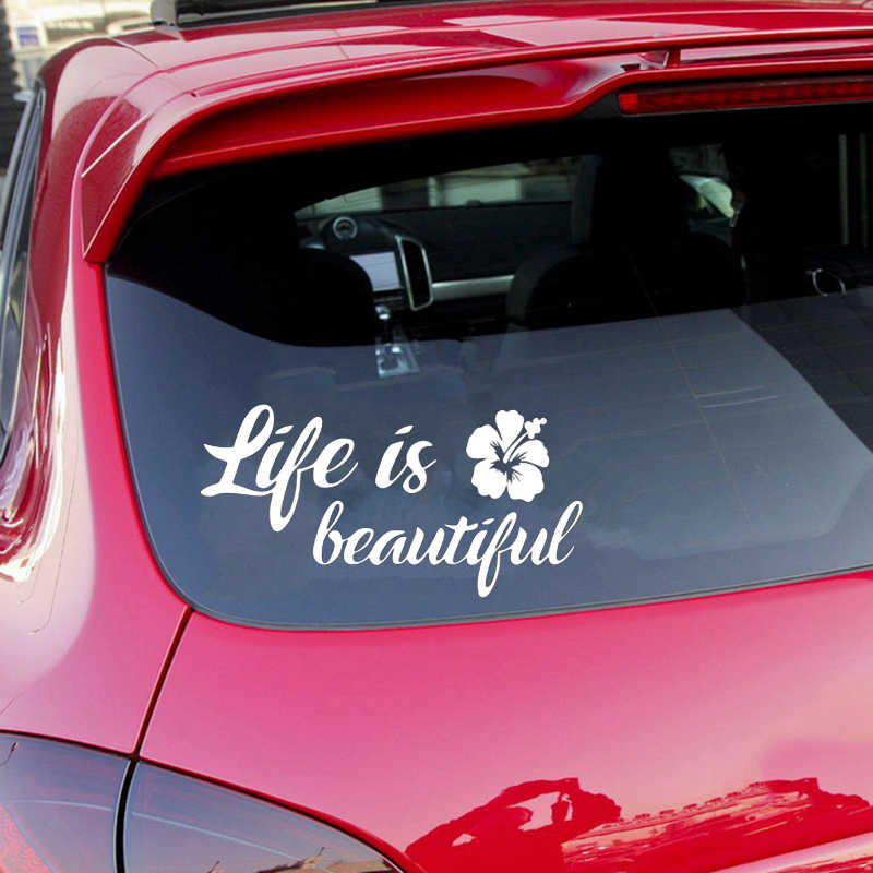 15*7 5CM Life is Beautiful Car Auto SUV Window decal Car Styling  Inspirational Quotes Vinyl Car Wrap Sticker