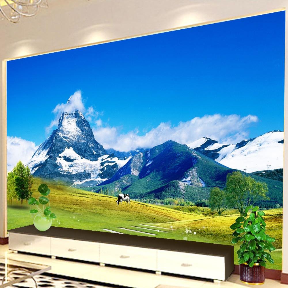 beibehang Wallpaper 3D Non-woven Modern Designs HD Natural Landscape Wall Decorations Living Room Bedroom Mural De Pared 3D