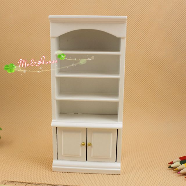 free shipping doll house miniature 1 unit bookcase model wooden study room furniture art collectible 112 scale bookcase dolls house emporium