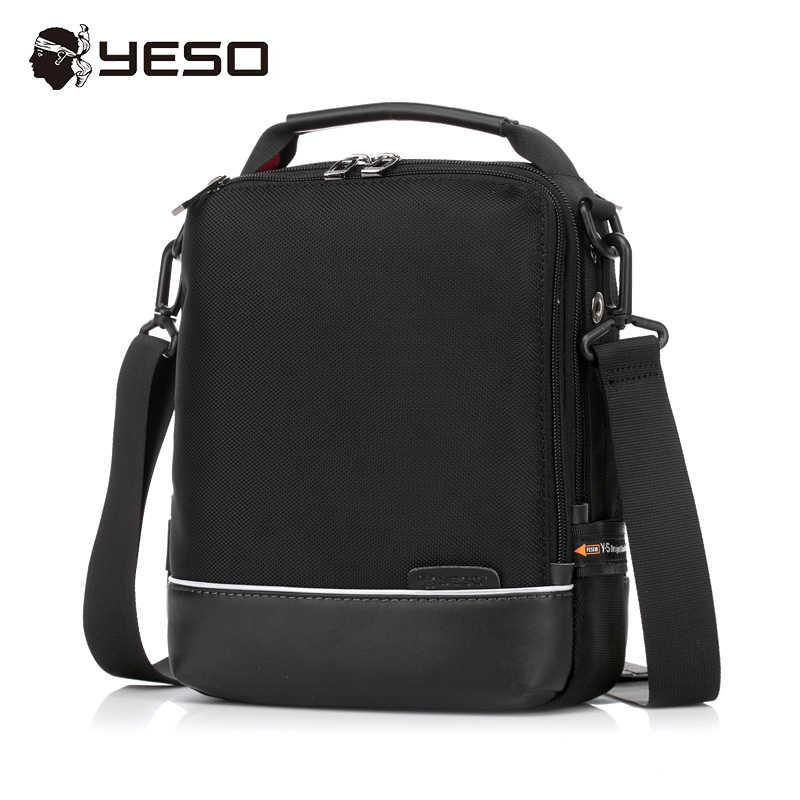 7d778c2dfe05 YESO брендовая мужская сумка 2017 Весенняя мода Повседневная деловая сумка  через плечо сумки оксфорды черная сумка