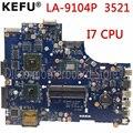 KEFU LA 9104P motherboard für dell 3521 5521 laptop motherboard la 9104p dell motherboard i7 CPU orginal Test motherboard-in Motherboards aus Computer und Büro bei