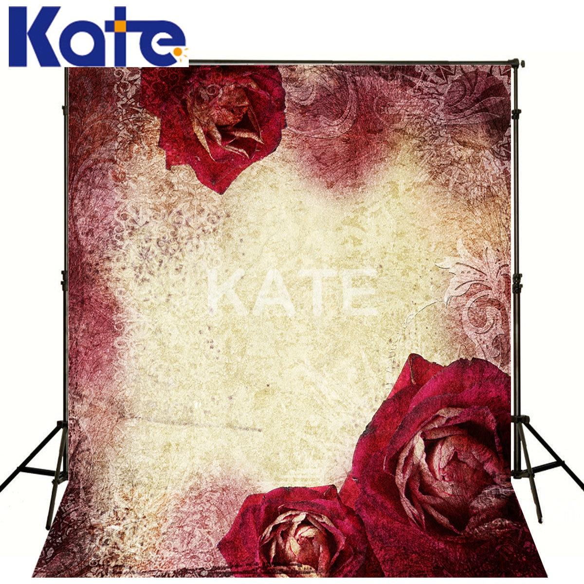 Kate écran vert rétro Simple fond blanc fleur rouge Kate photographie Studio arrière-plans