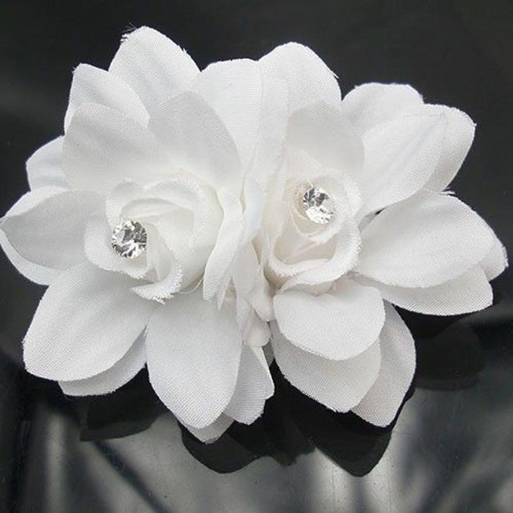 1 Pc White Fashion Women Ladiessummer Bridal Wedding Orchid Flower