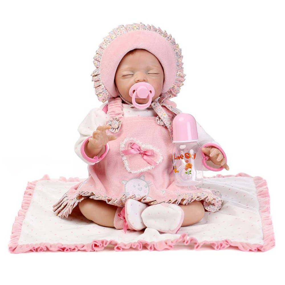 Vivid Silicone Reborn Doll Sleeping Baby with Clothes,18 inch Lifelike Baby Newborn Doll Toys for Kid dualsky wing cool brushless motor eco 3520c remote control aircraft fixed wing accessories motor xm4250ca