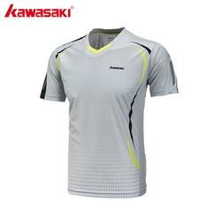 Kawasaki 2017 new men fitness t shirt v neck short sleeve badminton shirts for outdoor sports.jpg 250x250