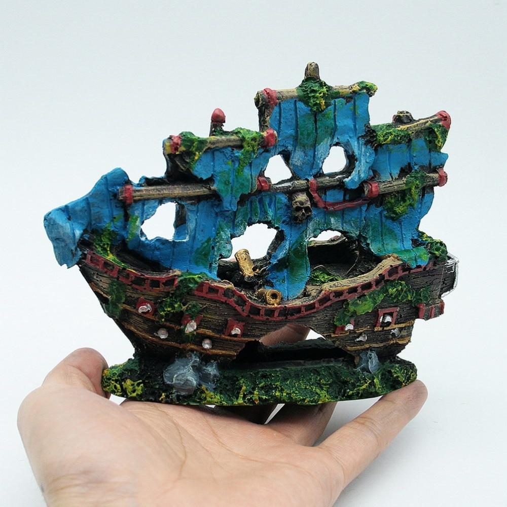Online buy wholesale aquarium pirate ship from china for Petit aquarium