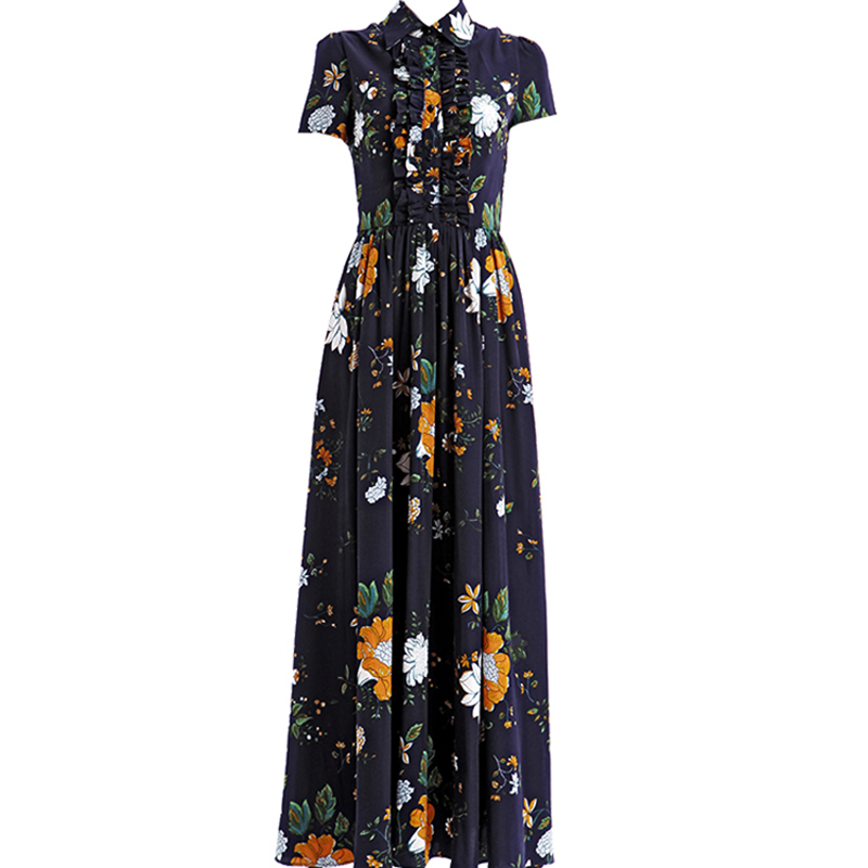 Newest Fashion 2018 Designer Maxi Dress Party Dress Women