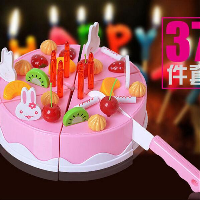 37pcs-Pretend-Role-Play-Kitchen-Toy-Happy-Birthday-Cake-Food-Cutting-Set-Kids-2