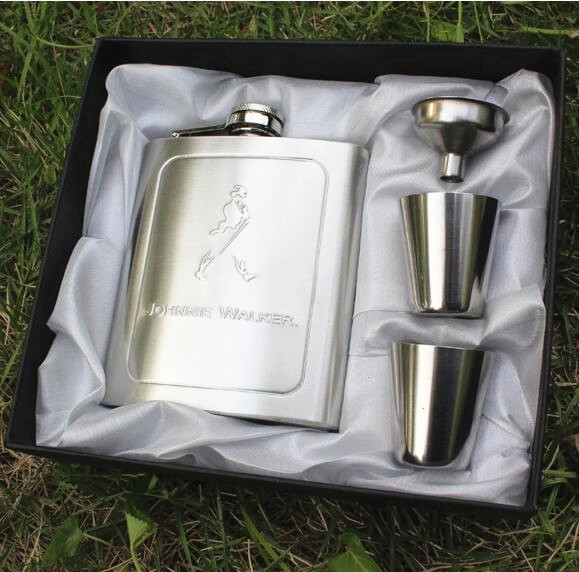 New Hip Flask Set 7 Oz Stainless Steel Wine Whiskey Hip Flask Bottle Flagon Kettle Alcohol Hip Flask Engraving