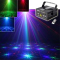 New Full Color Remote Red Green Blue Laser Stage Light Blue LED Mixing Effect DJ Show Projector Lighting  AZ12R-RGB300