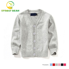 7 colors Girls cardigan long sleeve baby boys sweaters candy-colored 100% cotton baby boys and girls single-breasted jacket 2-6