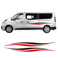 2 Sides Auto Styling Camper Van Stripes Graphics Stickers Universal Vinyl Decals For Ford Transit Renault Kang Mercedes Vito