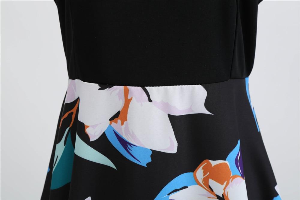 HTB1fMM3bfvsK1RjSspdq6AZepXav Women Summer Dresses 2019 Robe Vintage 1950s 60s Pin Up Big Swing Party Work Wear Rockabilly Dress Black Polka Dot Vestidos