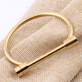 Fashion Miansai Shackle Screw Gold Plated Titanium Steel Cuff Women Men Bracelet Bangle for Watch Men jewelry
