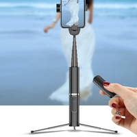 Universal Portable Mobile Phone Holder Tripod Camera wireless 3.0 Bluetooth Selfie Stick Self Timer Artifact Rod