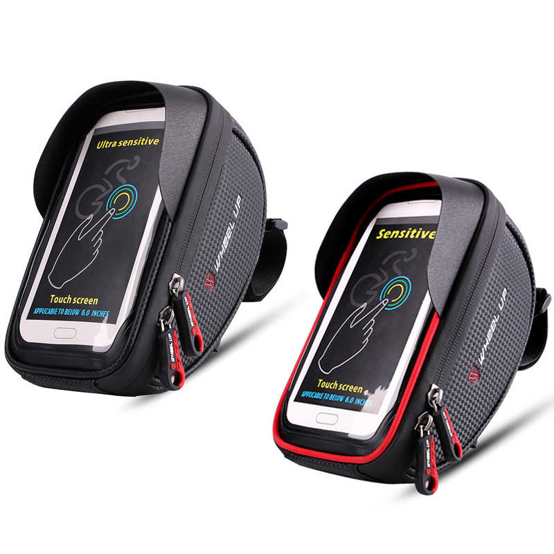 WHEEL UP 6 ''uchwyt rowerowy wodoodporny uchwyt rowerowy MTB Road z ekranem dotykowym etui na telefon top rowerowy rama podpórka rowerowa