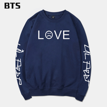 BTS Lil Peep Sweatshirt Men Streetwear Casual High Quality Comfortable Hipster Brand Fashion Tracksuit Loose Hoodie Sweatshirt