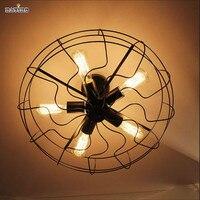 Промышленные Эдисон лампа Лофт Винтаж гладить Открытый Потолочные светильники комплект для столовой Ресторан украшения Птичье гнездо све