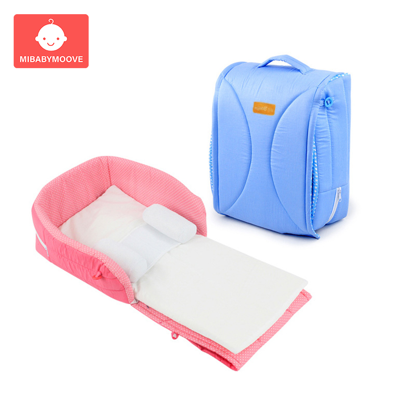 Portable Foldable Baby Crib Infant Bed Bag Multifunctional Newborn Travel Crib Mummy Bags Sleeping Basket Diaper Bag Folding Bed