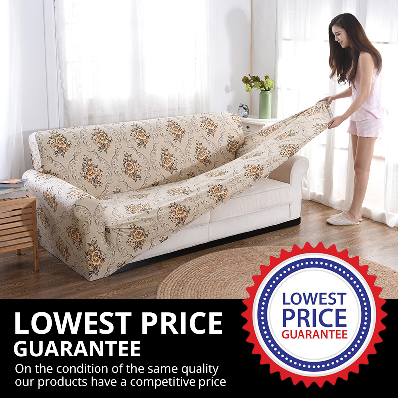Elastic Sofa Cover for Living Room Sectional Couch Made of Spandex Material 1